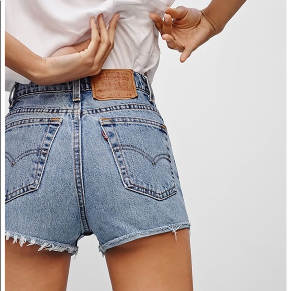 c9f176d7 Levi's Shorts | Levis 501 High Waisted Denim Cutoff Sz 32 | Poshmark